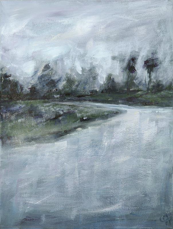 Fluss im Morgengrauen